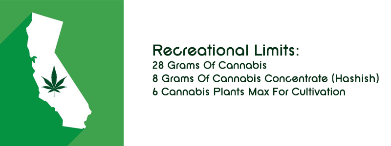 Recreational cannabis laws for California