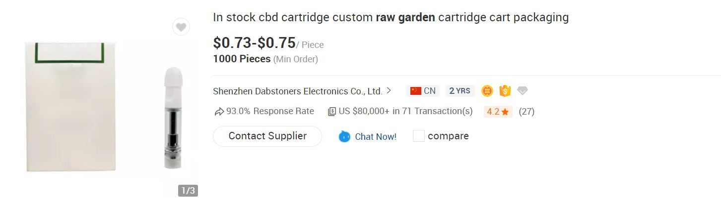 fake raw garden cartridges for sale